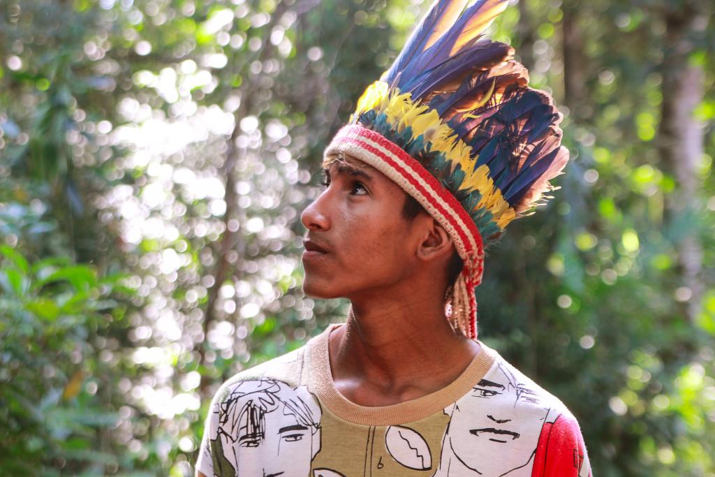 Werá Jeguaka Mirim, rapper e escritor indígena. Foto: Juliana Kümmer/ Matilda.my
